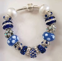 Blue charm bracelet 2 for $25 Baltimore, 21224