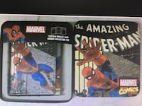 Marvel comics action hero's leather trifold wallet with a gift box. great for a little kids christmas gift or stocking stuffers.  Brand new !!!