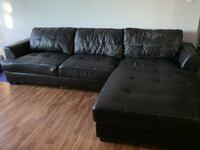 Black Leather Sectional Couch Calgary, T2V 2H9