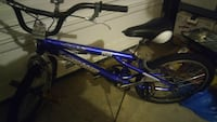 blue and black BMX bike