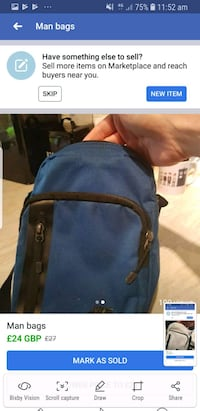 blue and black backpack screenshot Eccles, M30 8LB