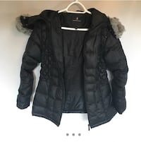 Laura Petites Black Winter Jacket with Faux Fur Hood Oakville, L6L 2T7