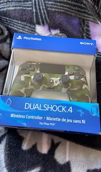 PS4 Green Camouflage Controller