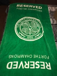 Celtic FC bath towel. From the early 2000s. Small spot. Very collectable Kitchener, N2A 1Y9