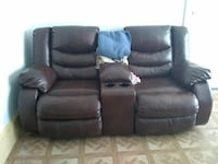 black leather console loveseat Cleveland, 44109