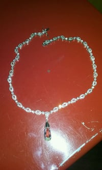 Sterling silver & CZ necklace