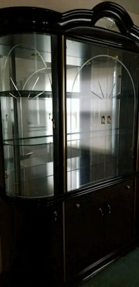brown wooden framed glass display cabinet Willingboro, 08046