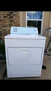 white front-load clothes washer Fort Worth, 76137