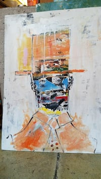 man wearing suit and hat abstract painting Toronto, M6R 3C2