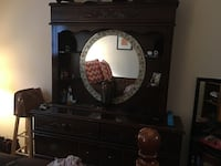 brown wooden dresser with mirror Cary, 27519