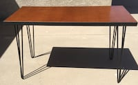 Mid-century modern desk with hairpin legs