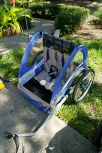 blue and white bicycle trailer Dunedin, 34698