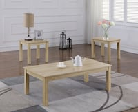 3 piece coffee, end table set in sand finish Moreno Valley, 92557