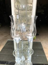 Set of three glass candle holders Germantown, 20876