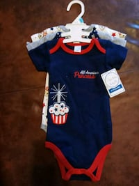 Girls onesies size 6-9 months bnwt  Baltimore, 21224