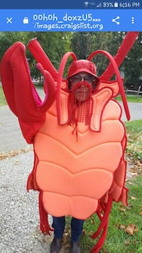 Lobster Halloween Costume  New Concord, 43762