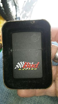 Budweiser racing zippo new never used wit orange sticker on the back Greenwood, 46143