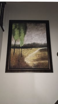 brown wooden framed painting of trees Richmond Hill, L4E 0N3