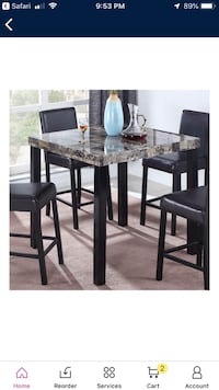 Must go!!! 5 piece faux marble dining set. $80 obo Beltsville, 20705