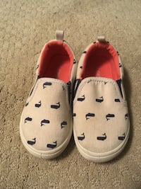 Gray-and-blue slip-on shoes