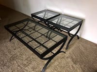 black metal framed glass top coffee table Silver Spring, 20904