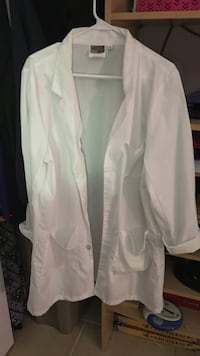Lab coat with safety goggles