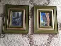 Two 5x7 green picture frames Sterling, 20165