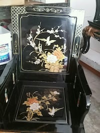 black and white floral wooden cabinet Ashburn, 20148