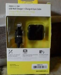 USB Wall charger+charge & synch Cable
