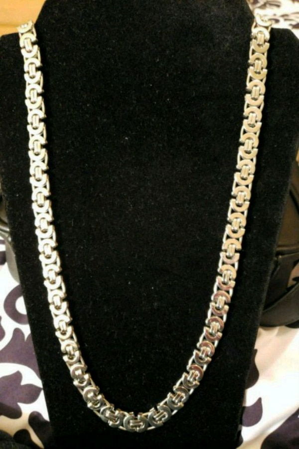 MENS SILVER BYZANTINE CHAIN PICK UP