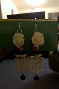 Rose earrings with an oriental twist Albuquerque
