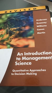 An Introduction to Management Science book Mississauga, L5A 1J9