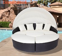 Patio furniture round day bed no credit check easy financing 25$ down  Rancho Cucamonga, 91730