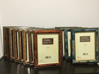 "Set of (12) 5""x7"" solid wood frames, Somerset Collection Boston, 02215"