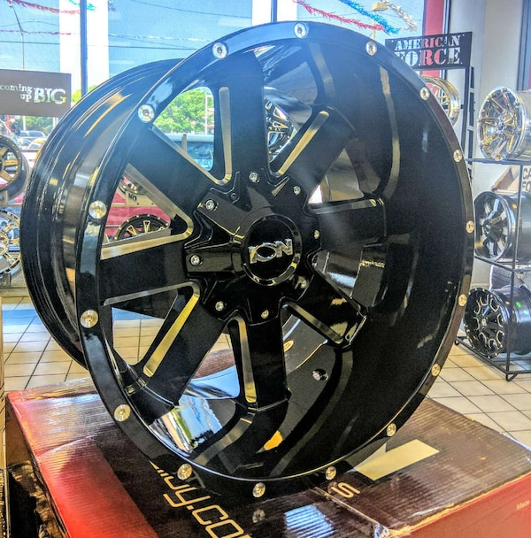 Ford F150 For Sale Tampa: Used New 20x12 Ion Off-road 141 Gloss Black Rims Wheels
