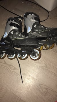 pair of black-and-gray inline skates Buffalo, 14207