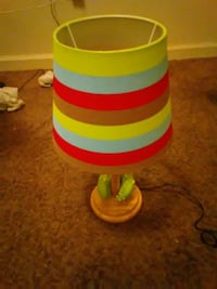 green and red table lamp Sumter, 29150