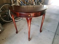 round brown wooden entry room table Sacramento, 95824