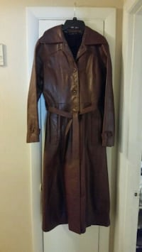 "Vintage ""Darby Casuals NY"" lined leather trench coat Attleboro, 02703"