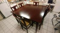 Bar height table and 6 chairs Vaughan, L4L 6T2