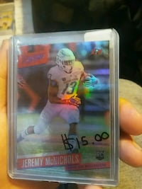Jeremy McNichols rookie trading card