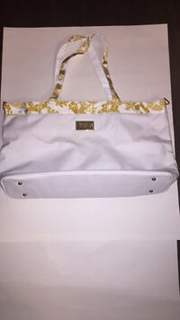 White and glold floral tote Versace bag Richmond Hill, L4S 0B6