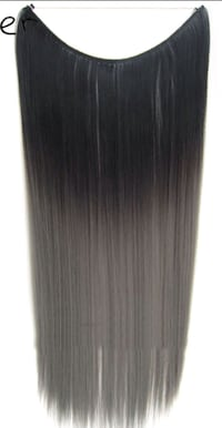 Black & Grey Ombre Halo Hair Extension Coquitlam, V3K 6J2
