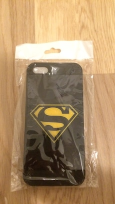 svart superman iphone 5/5s case