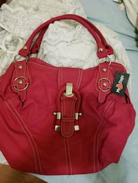 red and brown leather handbag Kitchener