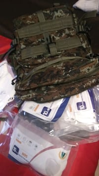 Camo bag with goodies inside Los Angeles