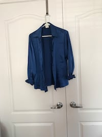 Verani blue silk top.  Vaughan