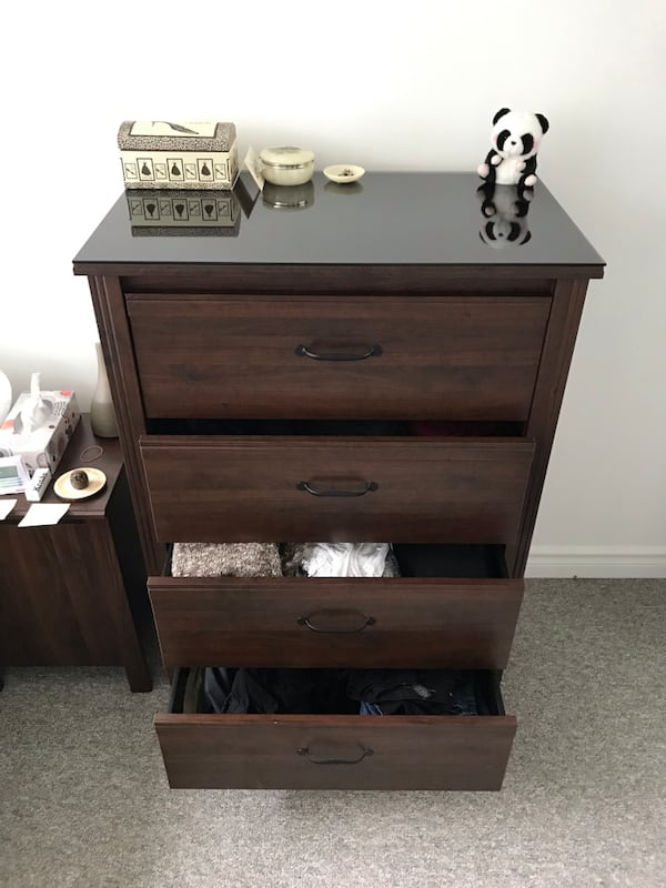 Beautiful wooden dresser with glass top 9085a3e5-570c-4a5f-83a6-c54fcdfb2632