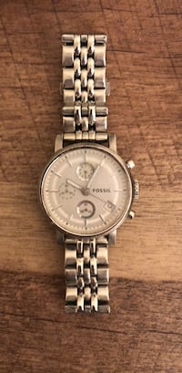 round silver-colored chronograph watch with link bracelet Sugar Land, 77478