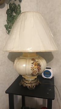 white and pink floral table lamp Sumter, 29150